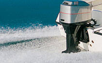 Secures boat engines